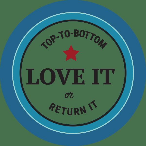 Love it or return it guarantee