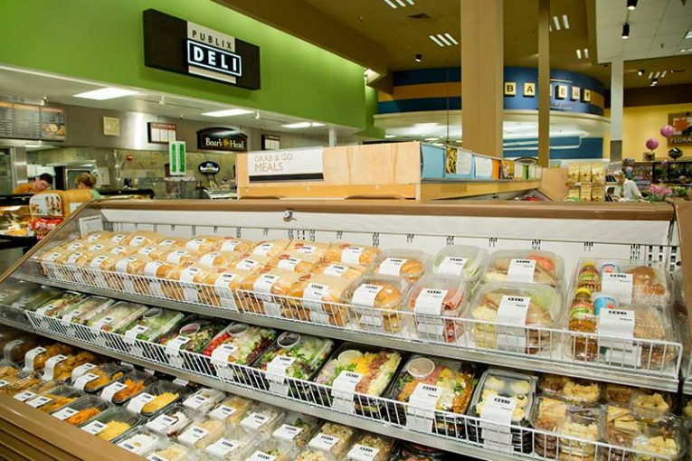 Lakeland, Florida-based Publix is a retailer that has cultivated a strong reputation for its deli and prepared foods, whether fresh-made sandwiches, fried chicken, rotisserie chicken or grab-and-go items like these.