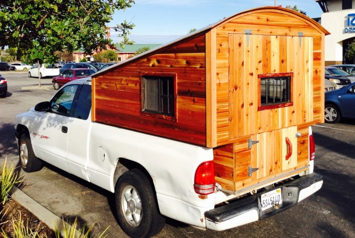 Homemade Wooden Pickup Truck Camper Shell The Shelter Blog