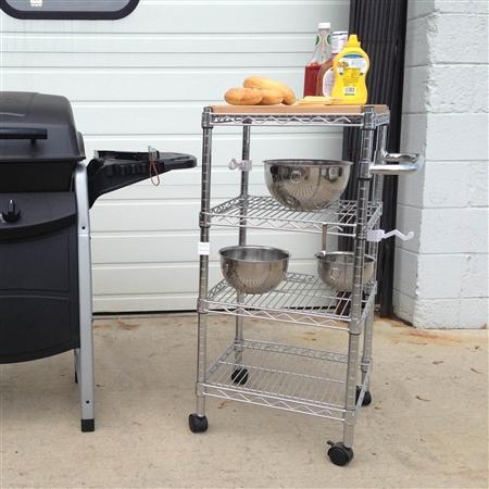 kitchen cart 18 d with butcher block top