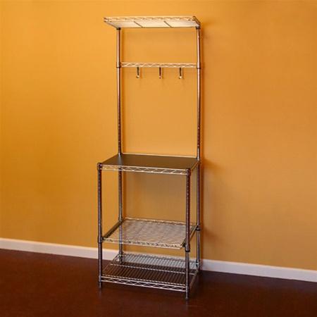 kitchen shelving with sliding shelf 18 d x 24 w x 72 h
