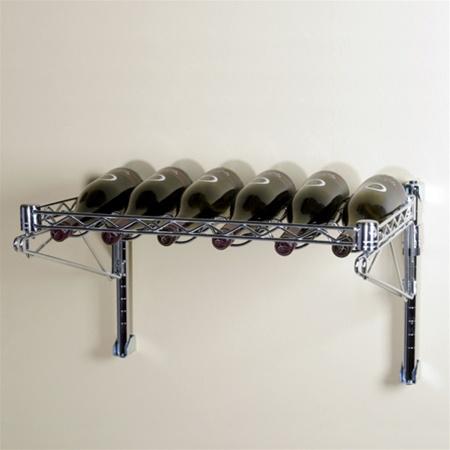 single shelf wall mounted wire wine rack