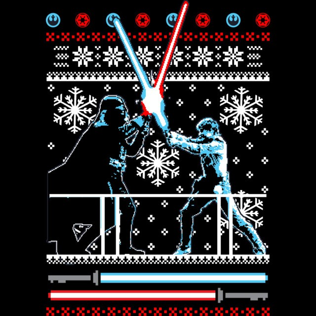 Star Wars Christmas Duel T Shirt The Shirt List