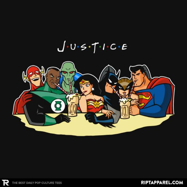 Justice Friends   Justice League T Shirt   The Shirt List Justice Friends T Shirt