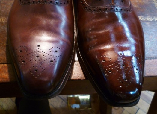 Black Shoe Polish On Brown Leather Boots