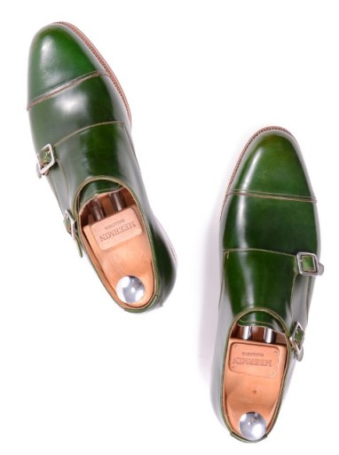 Meermin Green Cordovan Double Monks