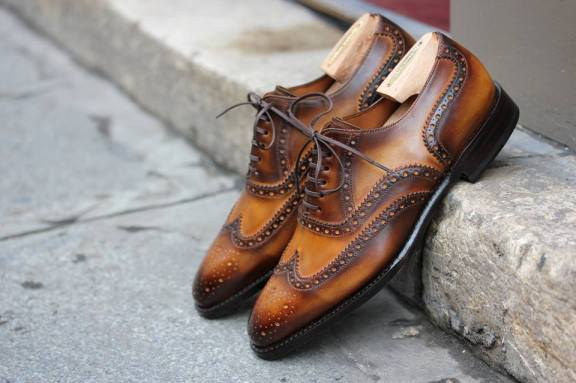 Septieme Largeur Full Brogues patina