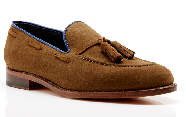 Kimber-Shoes brown suede tassel loafers