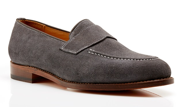 Kimber-Shoes grey suede loafers
