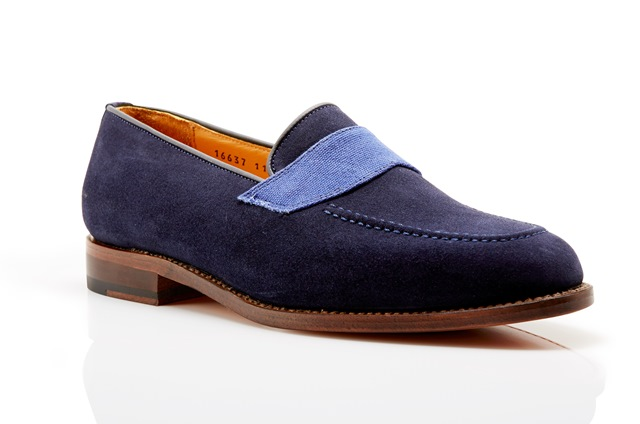 Kimber-Shoes blue suede loafers