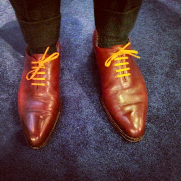 My bespoke shoes with way too much creasing for my liking...but what can I do??