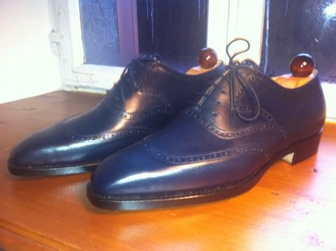 vass navy brogue