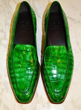 massimo ferrari alligator loafer