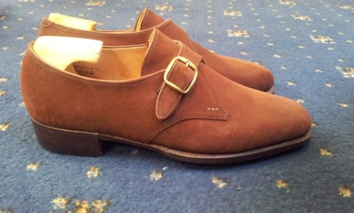George Cleverley Bespoke suede monks