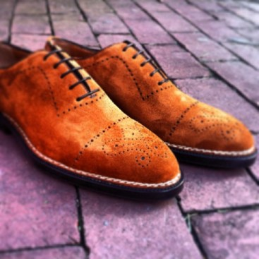 Bontoni suede brogue wholecut