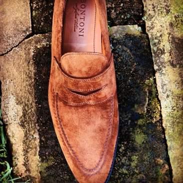 bontoni suede loafer