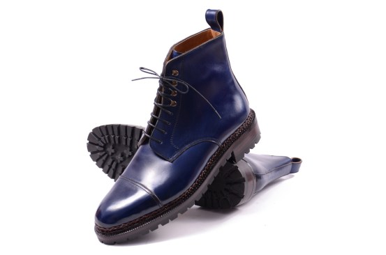 Meermin blue derby boots