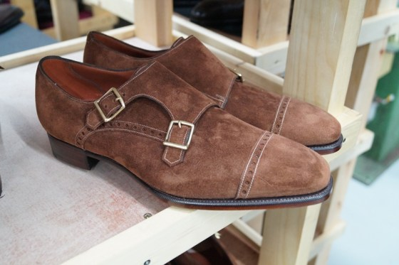 Lovely new suede monks, with contrast stitching