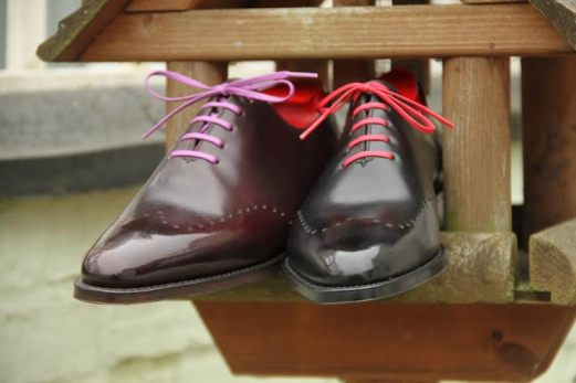 Tony in Merlot & Black, contrast lacing