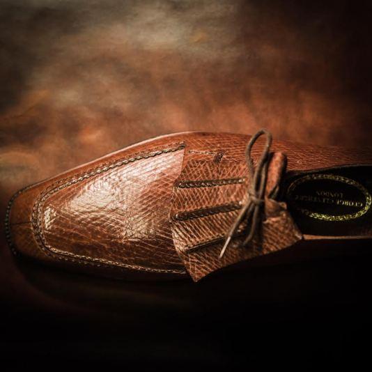 bespoke George Cleverley russian reindeer shoe