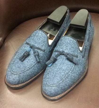 Tweed Cheaney Tassel Loafer