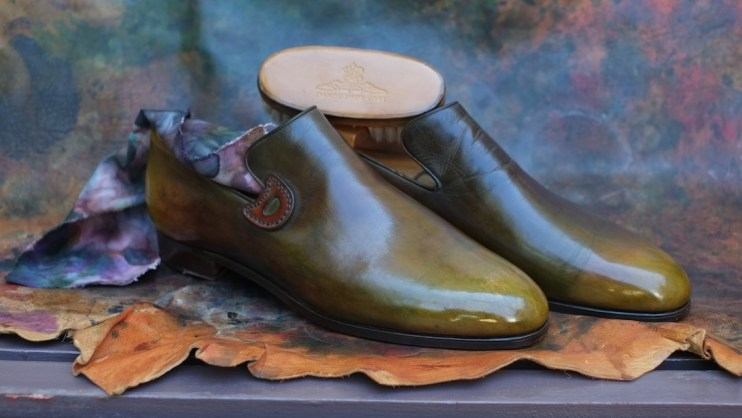 Dandy Shoe Care patina loafer