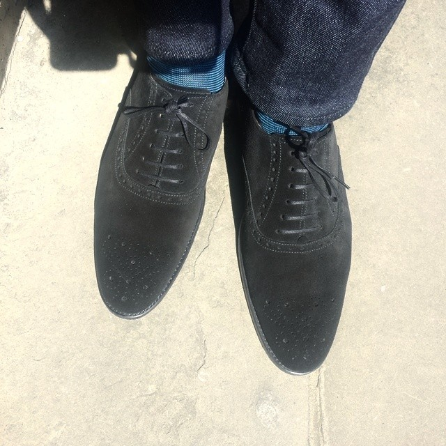 The Greenwood in Black Suede...