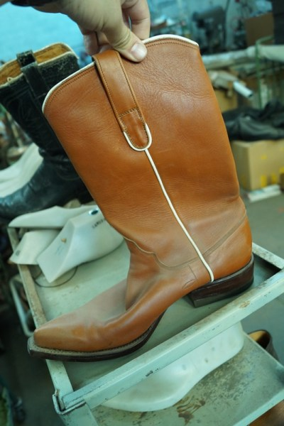 The first boots he ever made