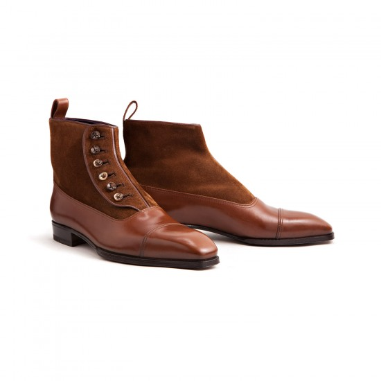 Enzo Bonafe Button Boots Tan