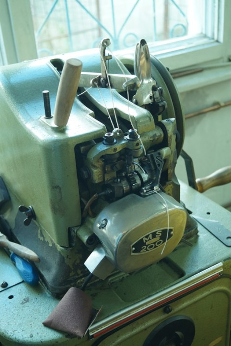 the sole stitching machine....