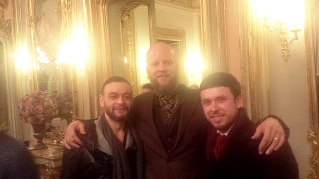 Ivan Crivellaro, Alexander Nurulaeff (Dandy Shoe Care) and myself