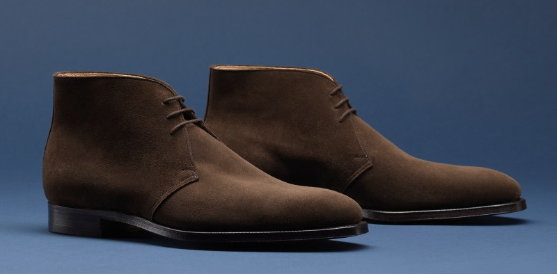7.Ealing Dark Brown Calf Suede - Crockett & Jones AW15