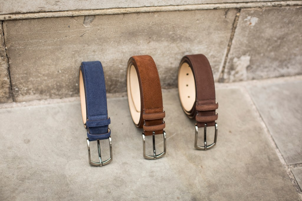 SUEDE BELTS AVAILABLE AT WWW.THESHOESNOB.COM