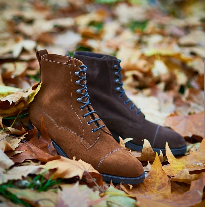 32a6a43d9521c I love a good A/W stylized photo for shoes, especially a good shot that has  leaves in it just like this one does. It often reminds me of my Autumns in  ...