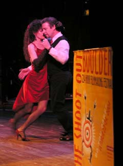 "Photograph by Jon Machen. Argentine Tango by ""DANCE of the HEART"" of the duo of Brian Dunn and Deborah Sclar."