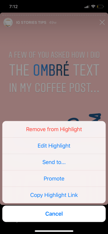 Instagram Stories Feature - How to Copy an Instagram Story Highlight Link