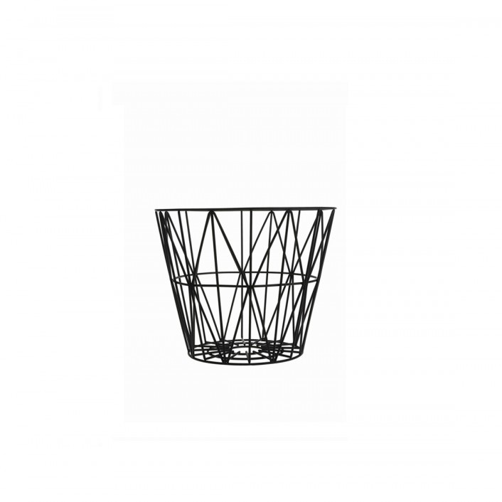 ferm living wire basket black small mand