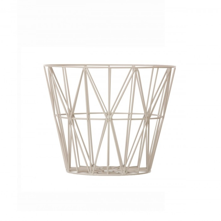 ferm living wire basket grey large mand