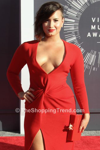 Demi Lovato Red Hot Lanvin Gown At The MTV VMAs 2014 Get