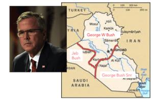 Iraq map Bush family