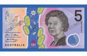 five dollar note Australia