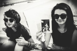 Polaroid of The Ghost Inside given to a fan. Polaroid by Chris Duke - Photo: Tanner Morris