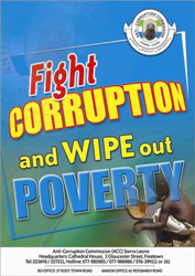 Anti-corruption Poster in Sierra Leone