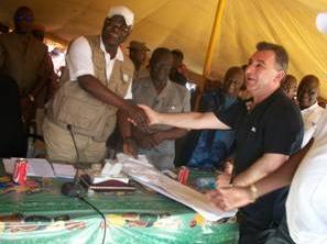 President Koroma with mining Billionaire - Frank Timis