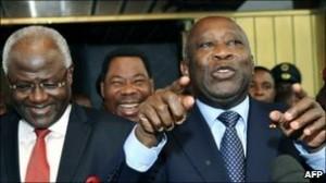 President Koroma and Gbagbo 3 Jan 2011
