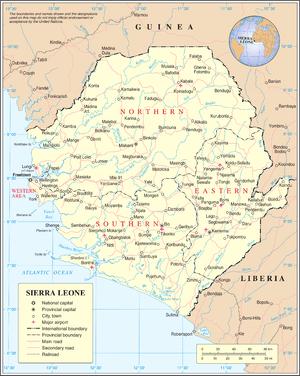 sierra leone map - 2012