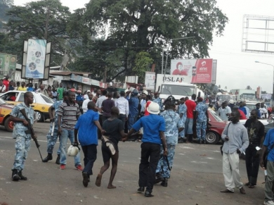 Pre-election violence in Sierra Leone