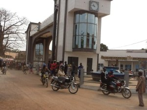 makeni town centre clock tower - 2012