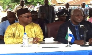 Sam Sumana and Ernest Koroma