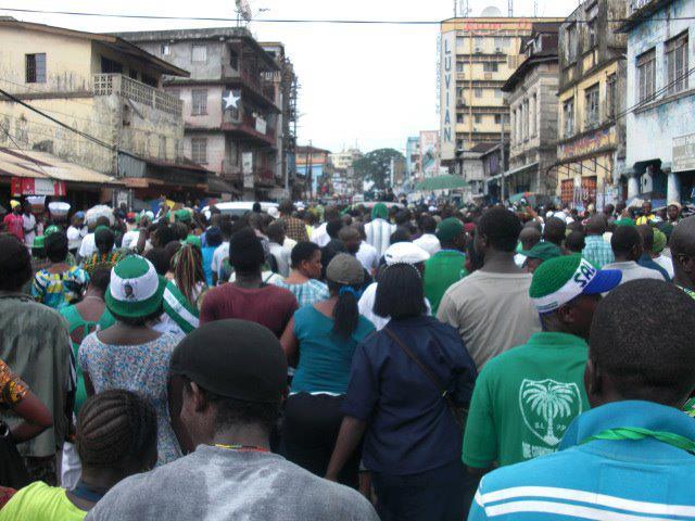 slpp supporters in freetown